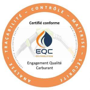 autocollant certificat carburant EQC